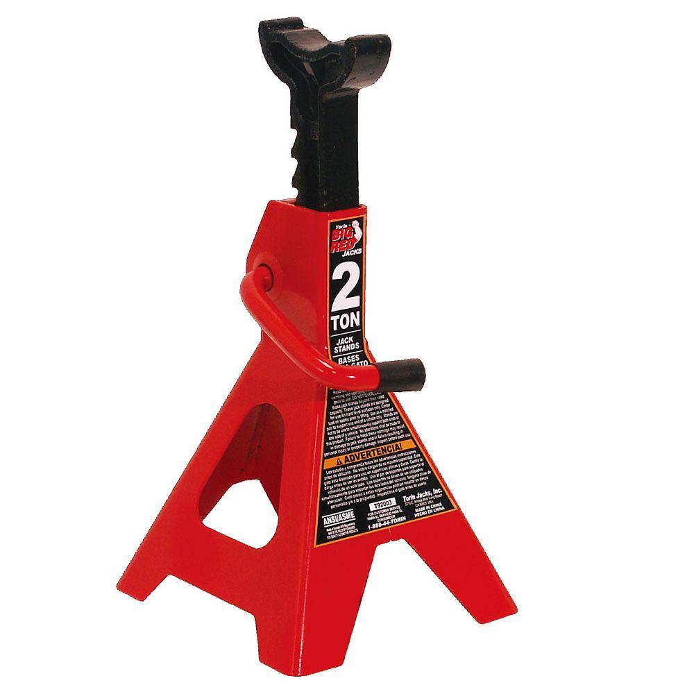 Jack Stand Designs : Big red ton steel jack stands pack t the home