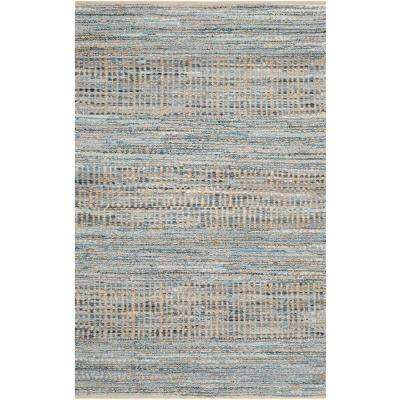 Cape Cod Natural/Blue 4 ft. x 6 ft. Area Rug