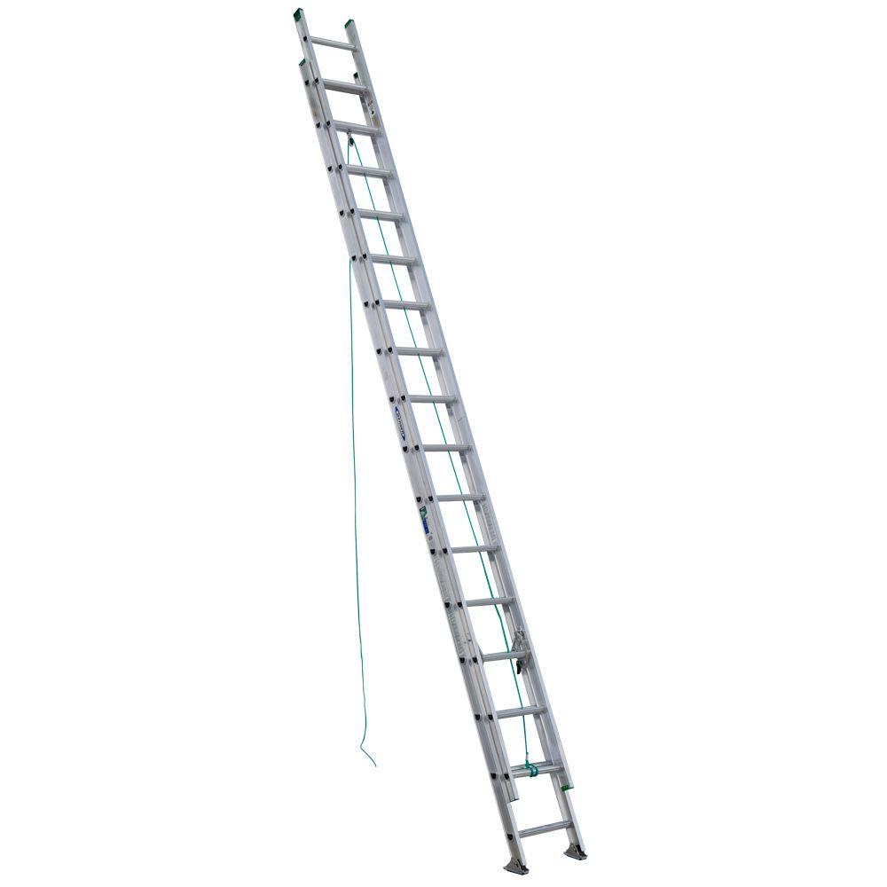 Werner 32 Ft Aluminum D Rung Extension Ladder With 225 Lb Load Capacity Type Ii Duty Rating D1232 2 The Home Depot