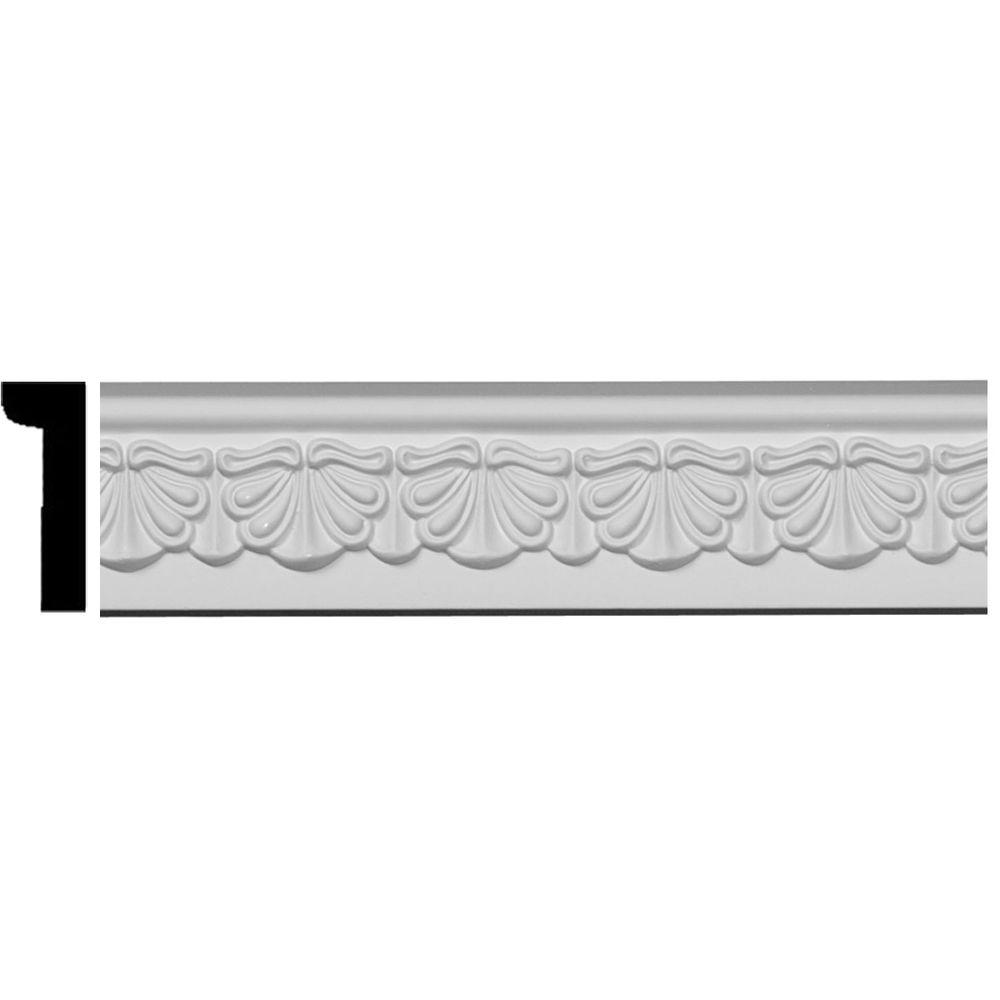 1/2 in. x 2-1/2 in. x 94-1/2 in. Polyurethane Acanthus Leaf