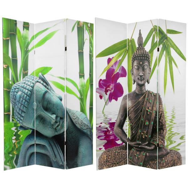 Oriental Furniture 6 ft. Printed 3-Panel Room Divider CAN-BUD2