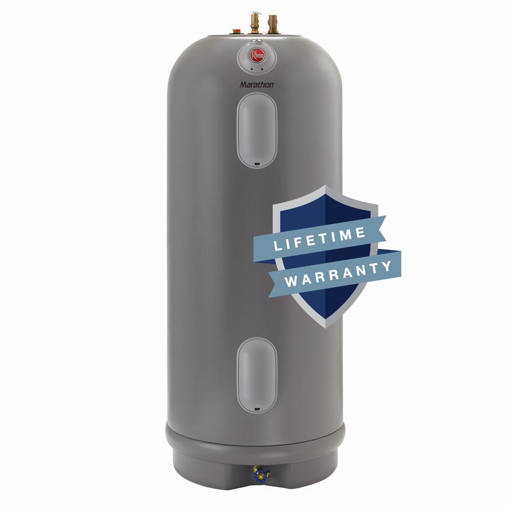 Rheem Marathon 75 Gal Lifetime 4500 4500 Watt Non Metallic Commercial Electric Water Heater Mhd75245 The Home Depot