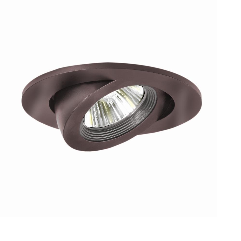 Halo 3 In Tuscan Bronze Recessed Ceiling Light Trim With Adjule Gimbal