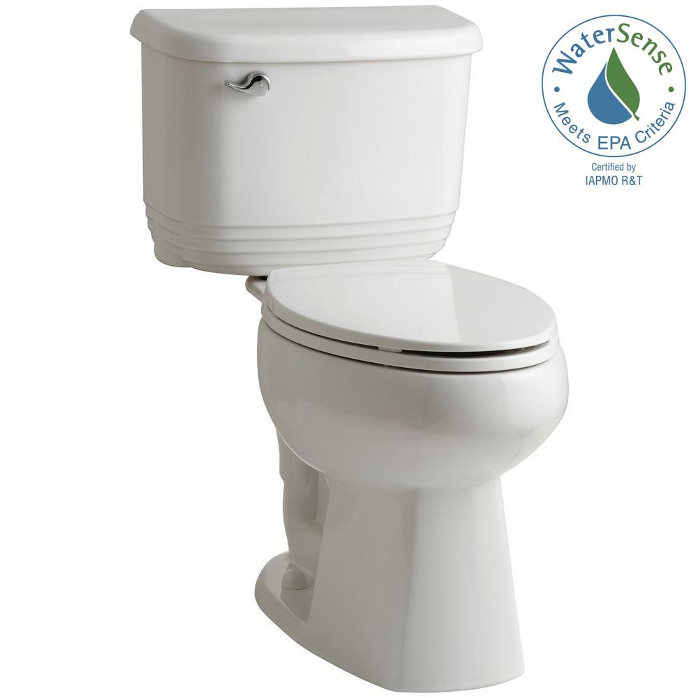 STERLING Riverton 2-piece 1.28 GPF Single Flush Elongated Toilet in White