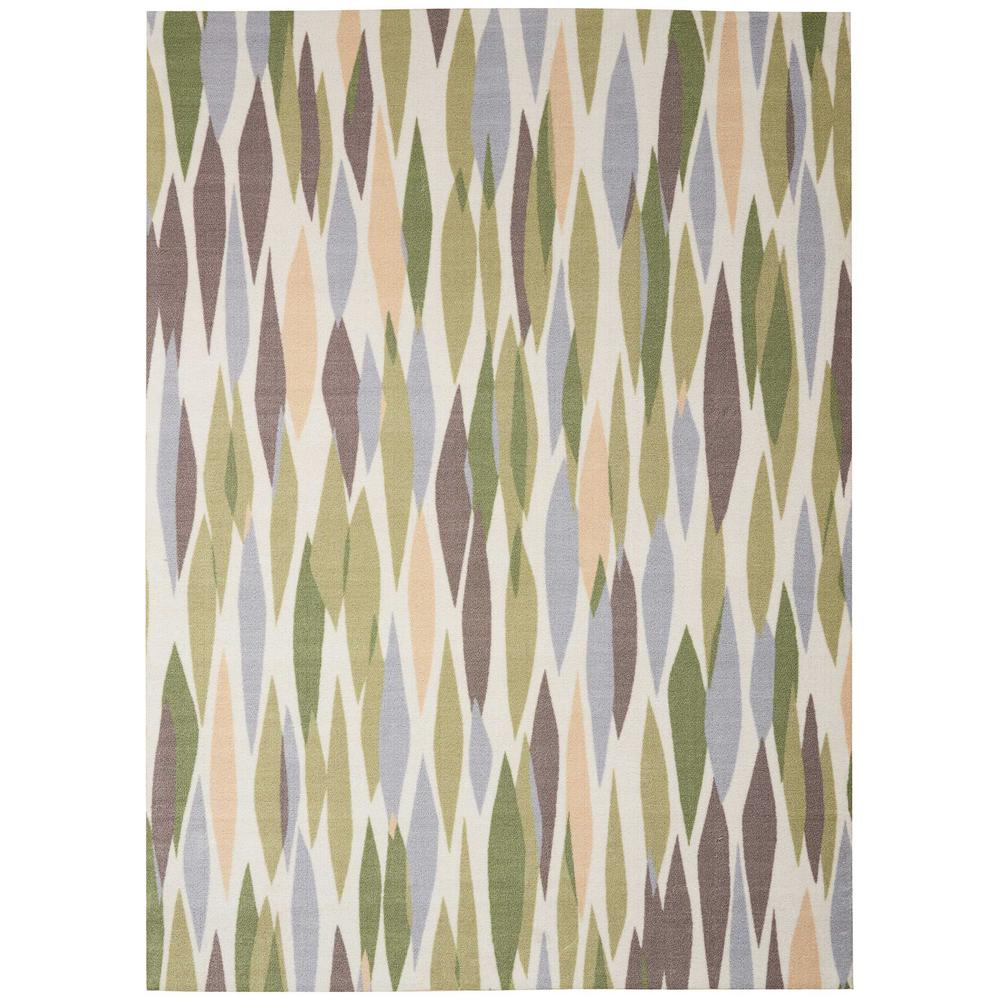 Bits and Pieces Violet Geometric 8 ft. x 11 ft. Area Rug