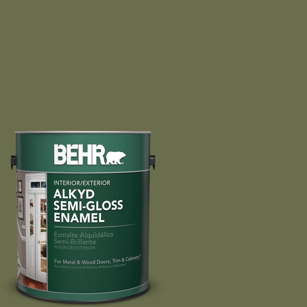 1 gal. #S370-7 Outdoor Oasis Semi-Gloss Enamel Alkyd Interior/Exterior Paint