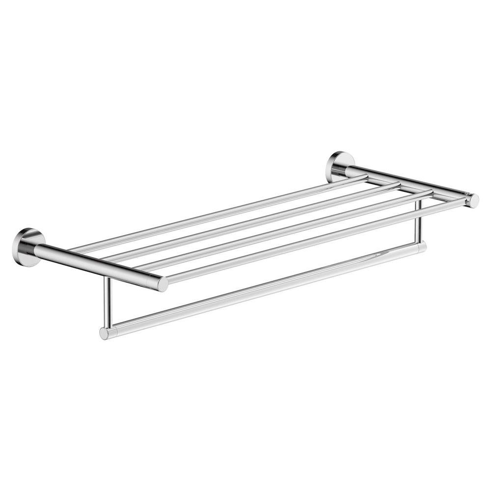 Symmons Dia 22 in. Towel Shelf in Chrome-353TS-22 - The Home Depot