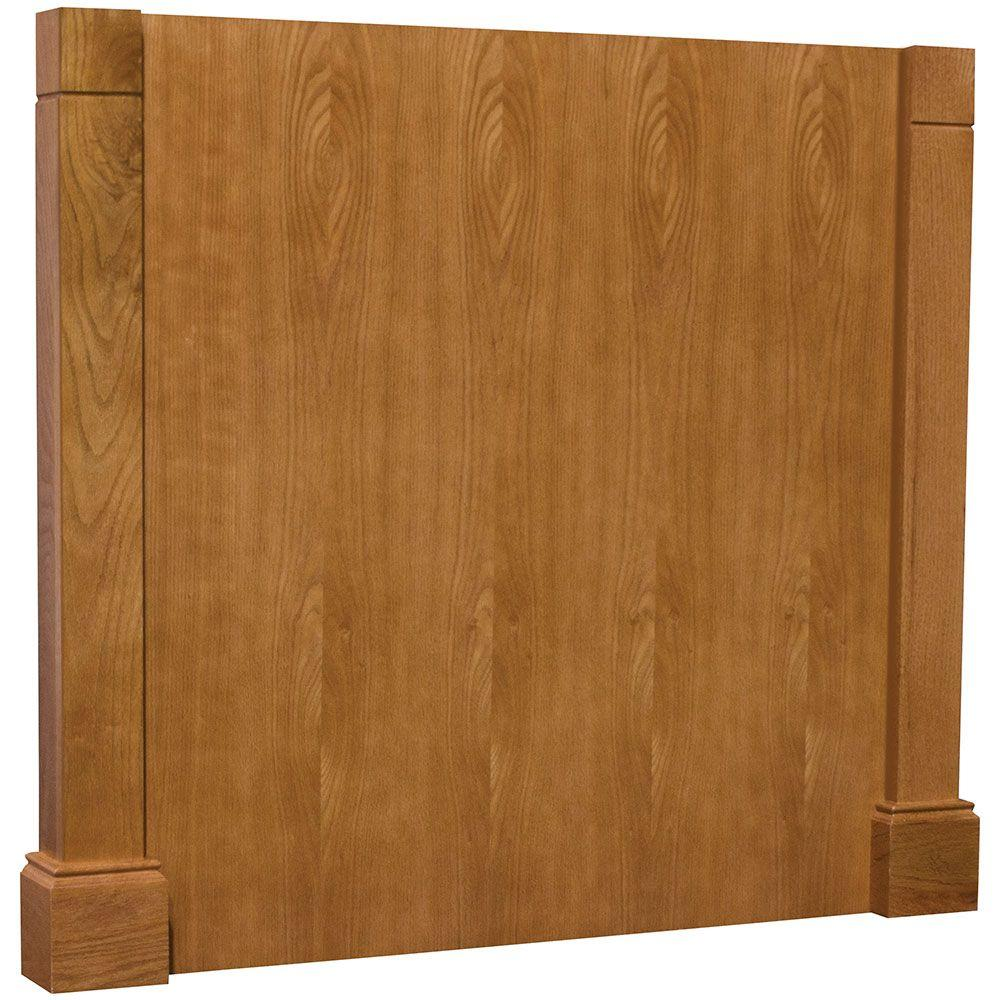 medium oak kitchen cabinet end panels moldings kitchen