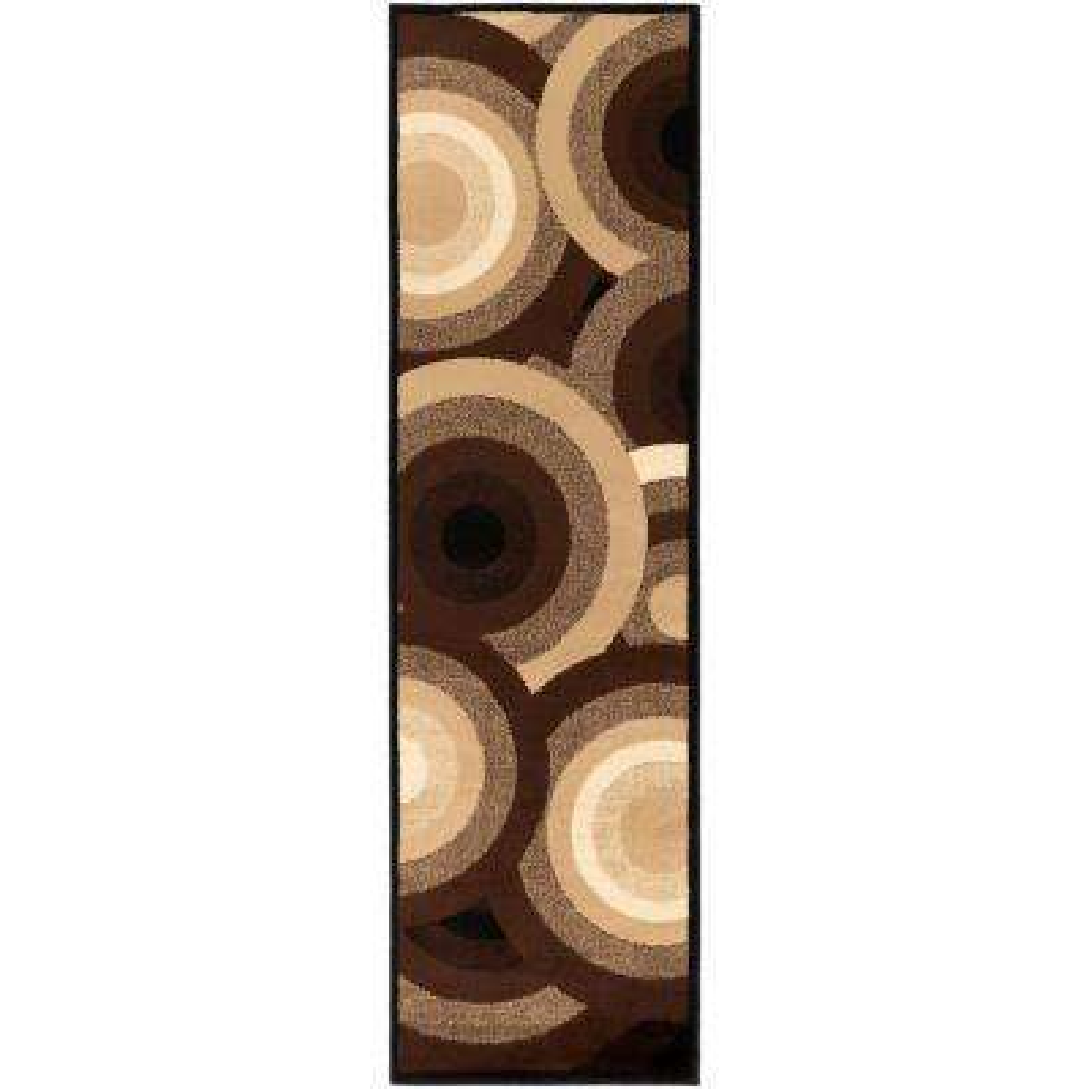 Kalocsa Chocolate 2 ft. x 8 ft. Indoor Runner Rug