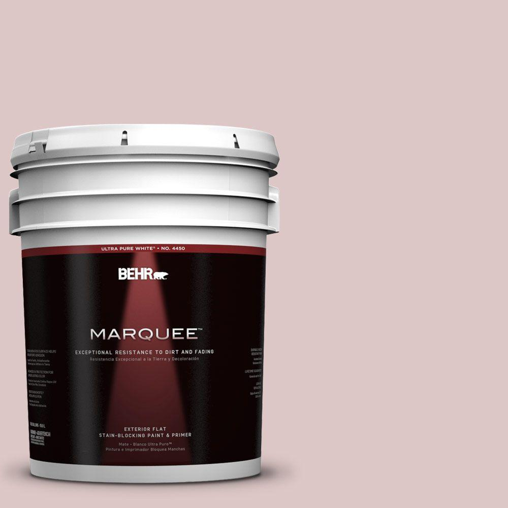 5-gal. #130E-2 Fairview Taupe Flat Exterior Paint