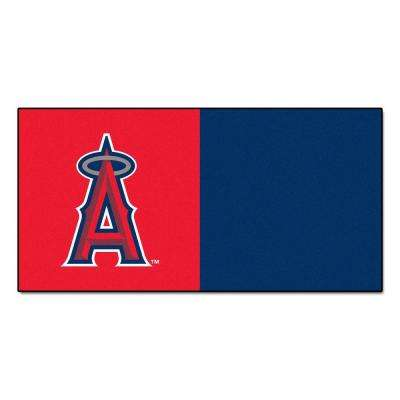 MLB - Los Angeles Angels Red and Blue Nylon 18 in. x 18 in. Carpet Tile (20 Tiles/Case)