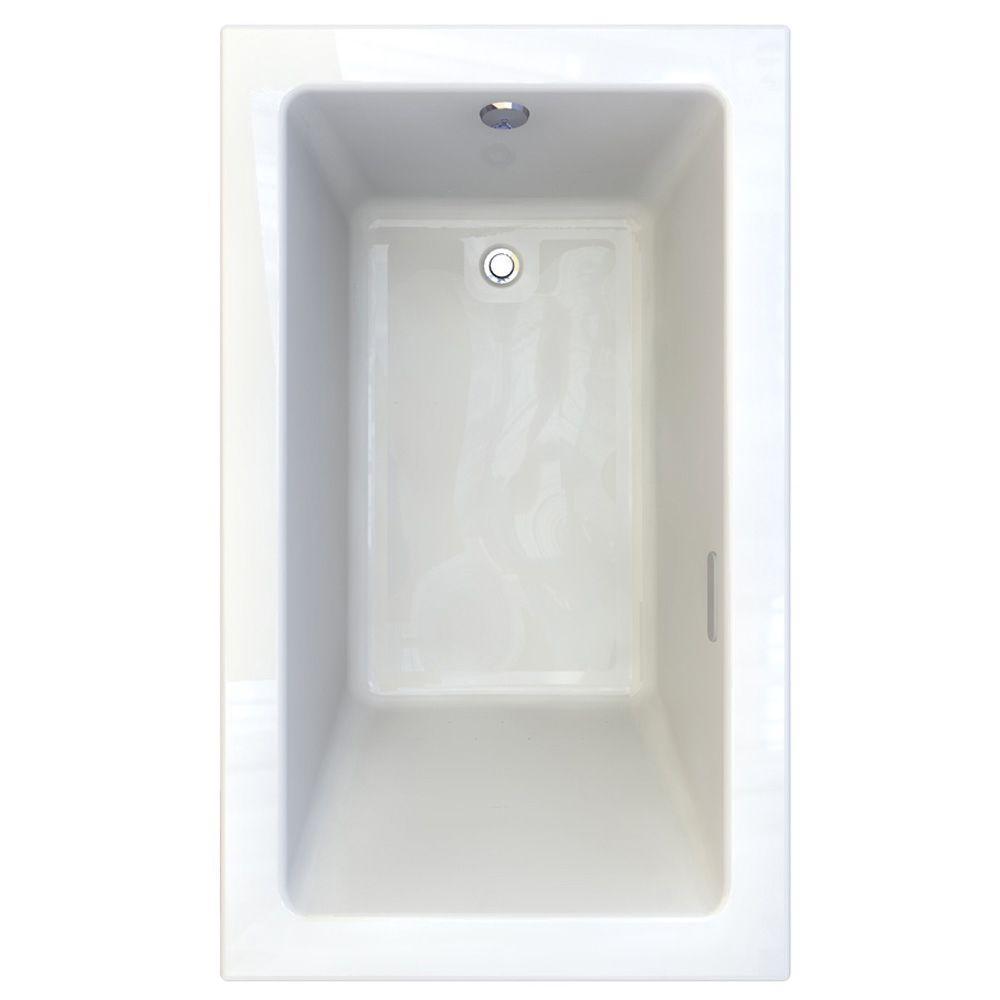 American Standard Studio 5 ft. x 36 in. Reversible Drain EverClean Air Bath Tub in White