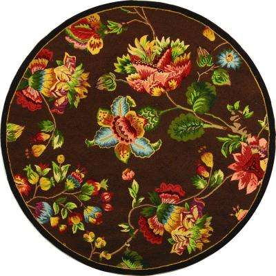 Chelsea Brown 8 ft. x 8 ft. Round Area Rug