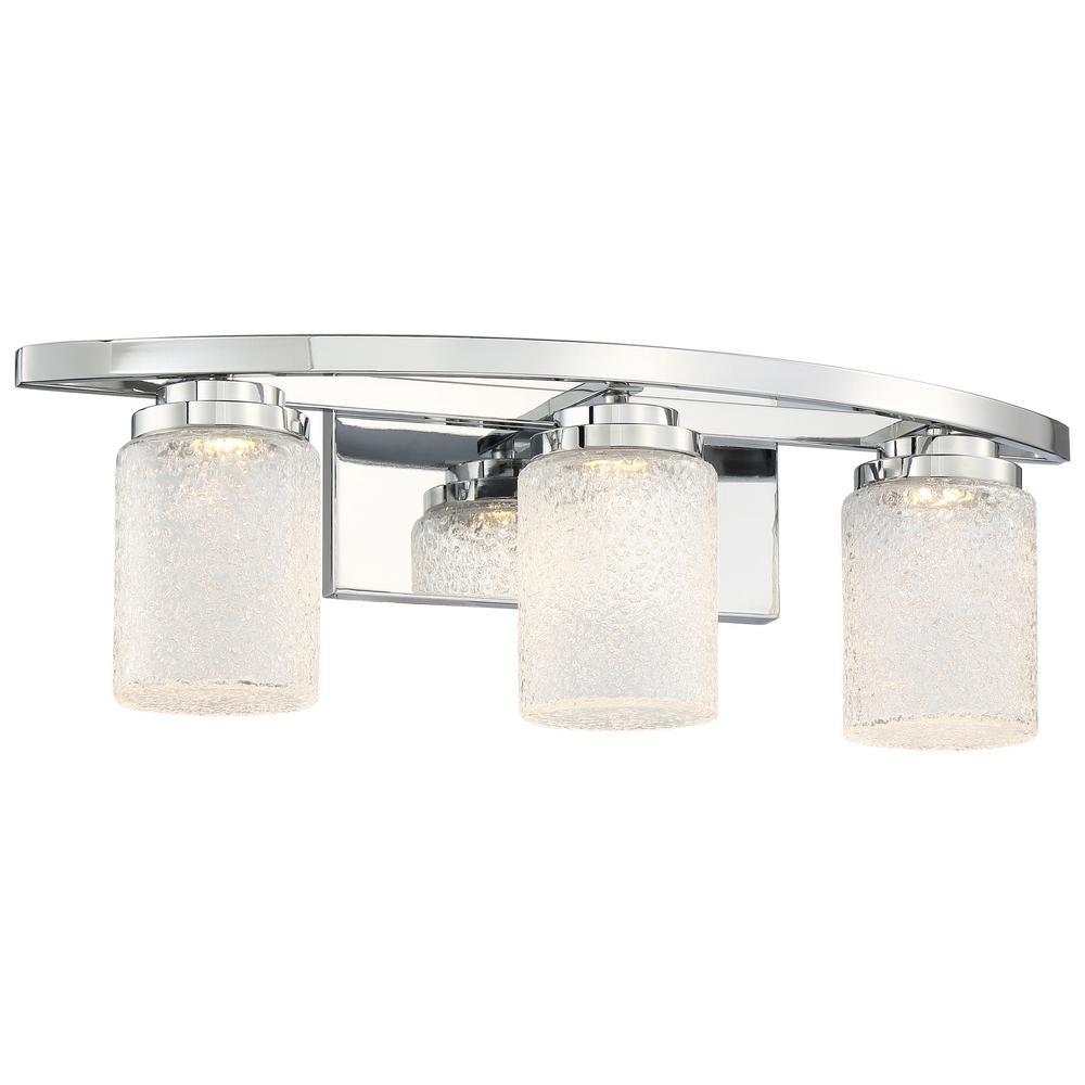 Brilliant 23-Watt Chrome Integrated LED Bath Light