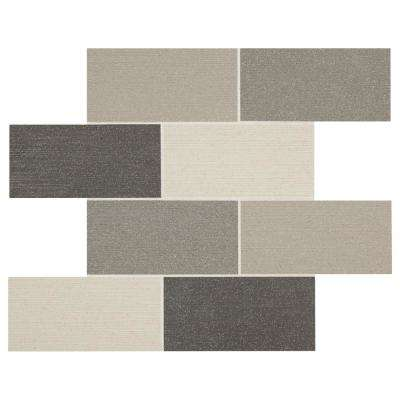 Premier Accents Horizon Gray Brick Joint 11 in. x 14 in. x 10 mm Porcelain Mosaic Wall Tile (0.955 sq. ft. / piece)