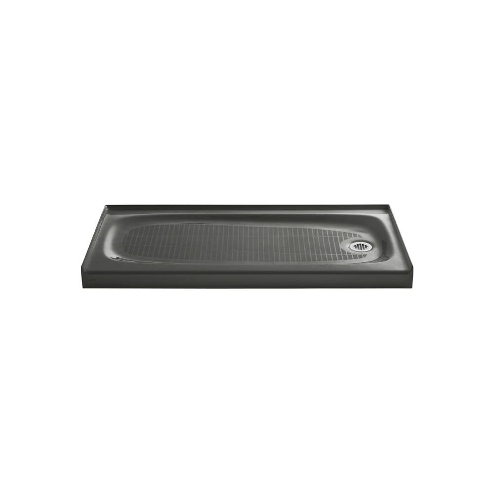 KOHLER Salient 60 in. x 30 in. Single Threshold Shower Base in Thunder Grey