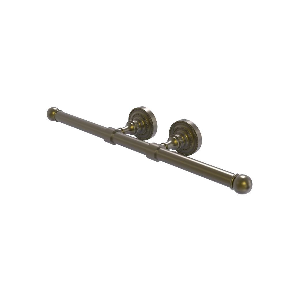 Dottingham Collection Double Post 2-Roll Toilet Paper Holder in Antique Brass