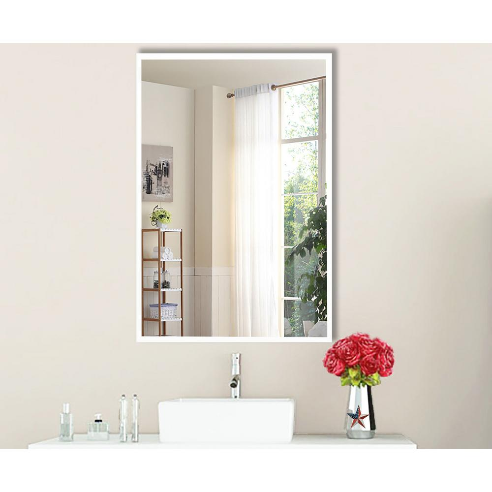 20.4375 in. x 16.4375 in. Brite White Vanity/Wall Mirror