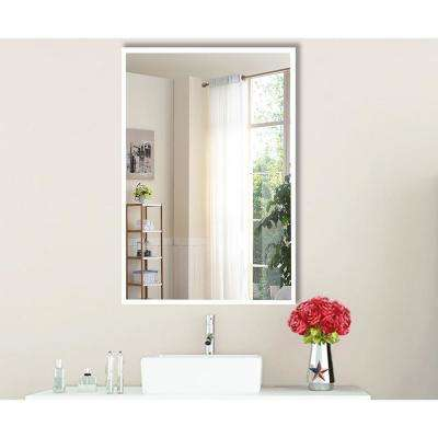 40.4375 in. x 34.4375 in. Brite White Vanity/Wall Mirror