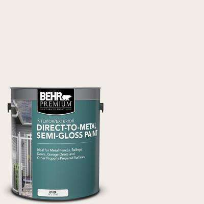 1 gal. #52 White Semi-Gloss Direct to Metal Interior/Exterior Paint