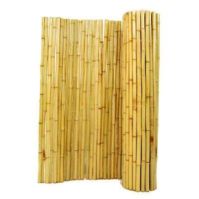4 ft. H x 8 ft. W x 1 in. D Natural Rolled Bamboo Fence
