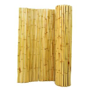 6 ft. H x 8 ft. W x 1 in. D Natural Rolled Bamboo Fence Panel
