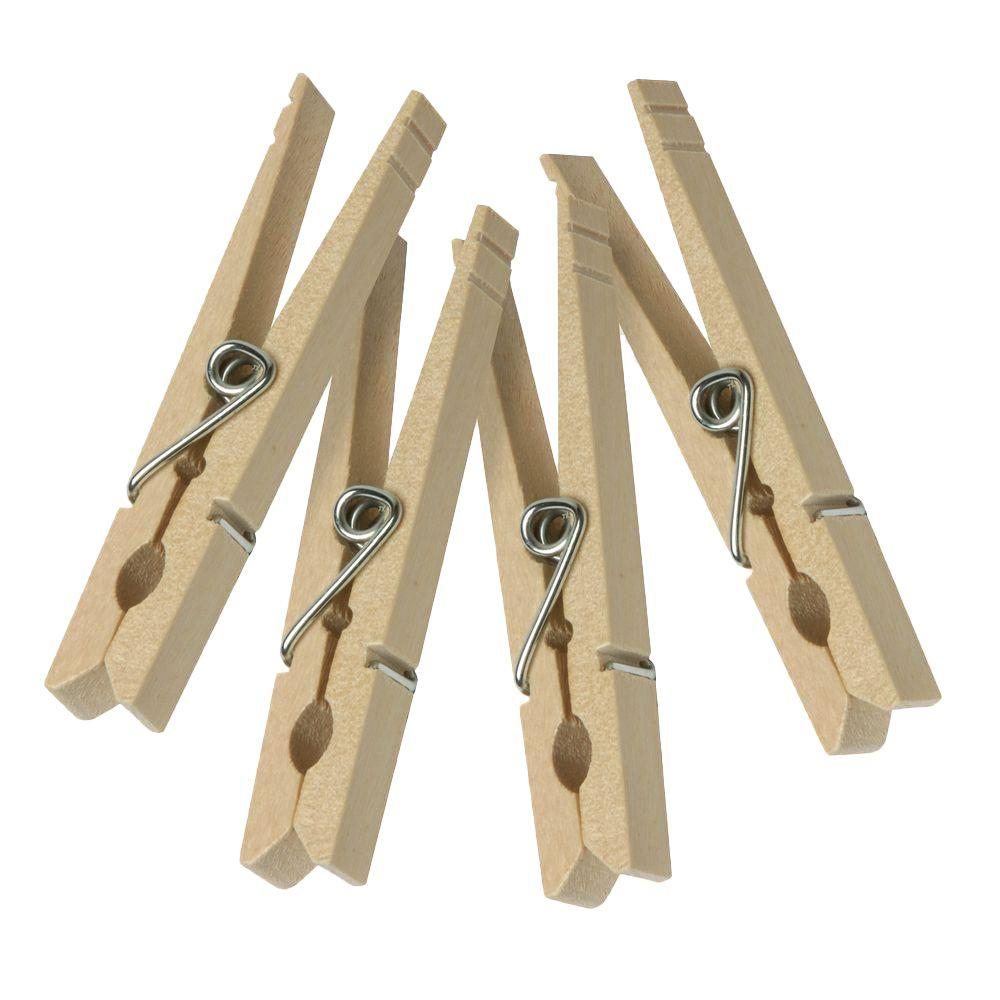 Honey-Can-Do Wood Clothespins with Spring (200-Pack)