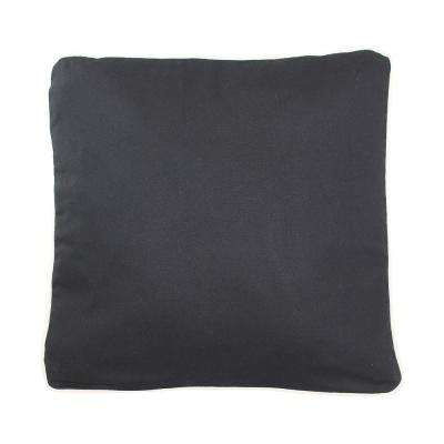 20 in. x 20 in. Black  Standard Pillow with Green Eco Friendly Insert