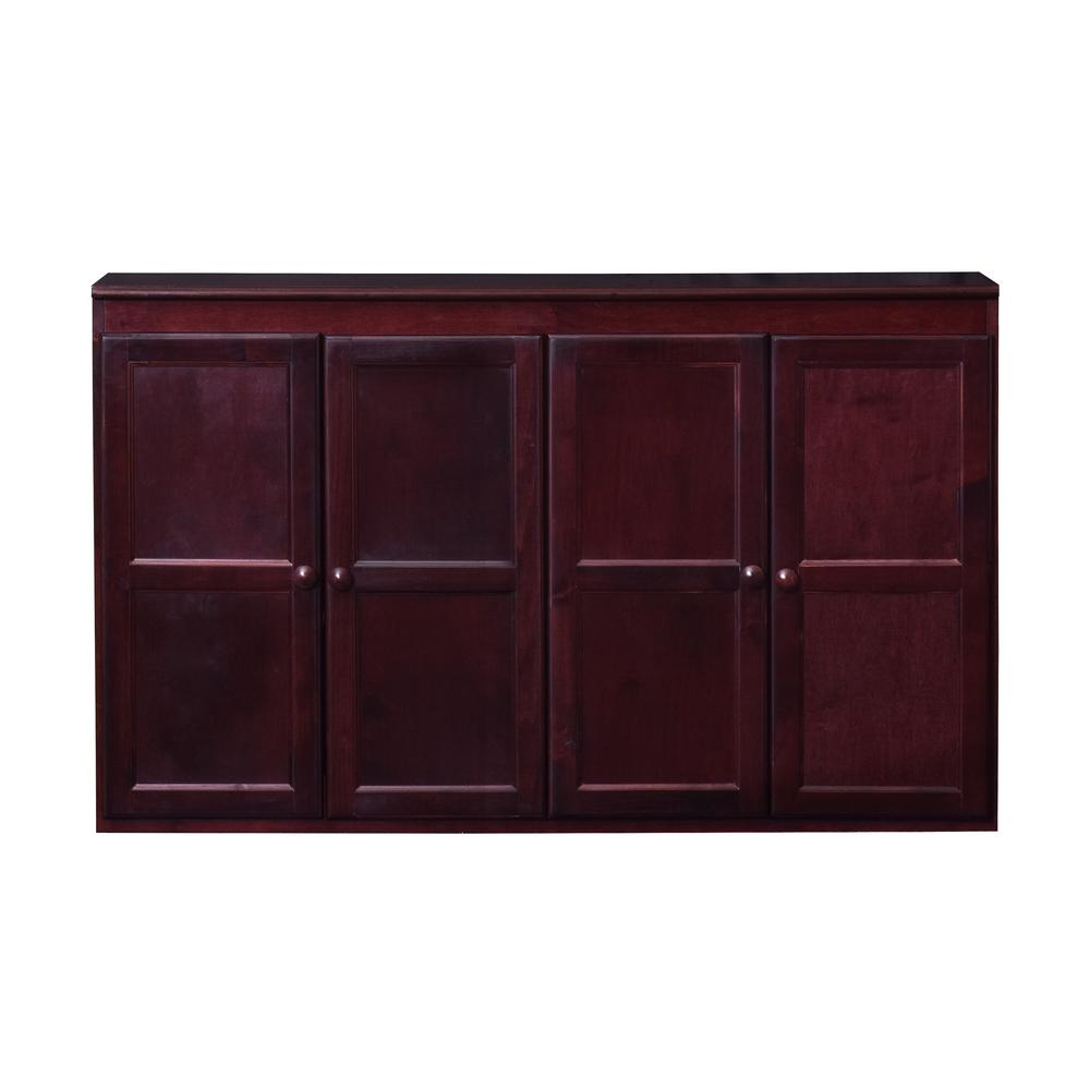 ConceptsInWood Concepts In Wood Wood 60 in. Storage Console TV Stand/Dining Buffet, Cherry Finish, Red