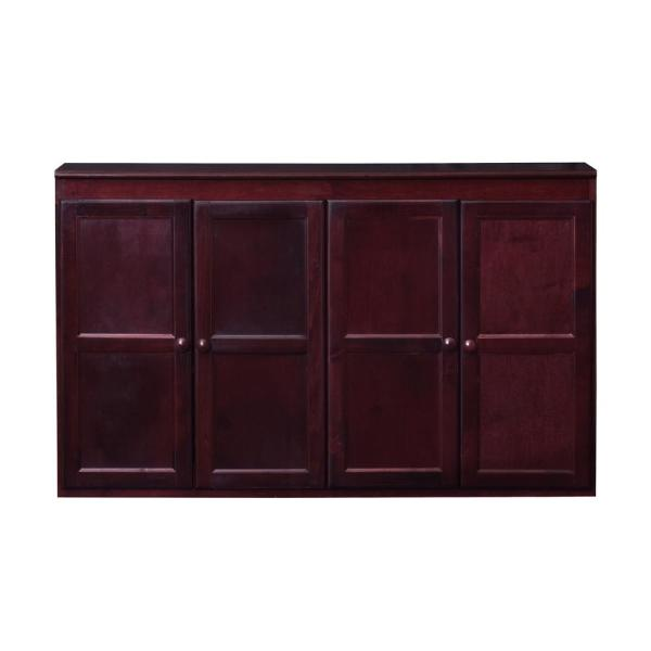 Wood 60 in. Storage Console TV Stand/Dining Buffet, Cherry Finish
