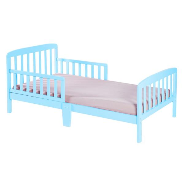 Bold Tones Classic Wooden Boys Girls Toddler Kids Bed Frame with