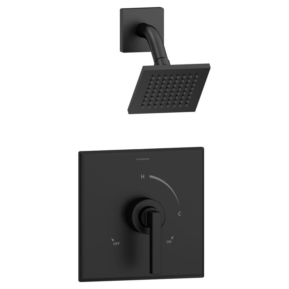 Symmons Duro Single-Handle 1-Spray Shower Faucet in Matte Black ...