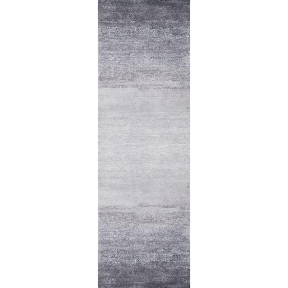 Ombre Bernetta Grey 3 ft. x 8 ft. Runner Rug