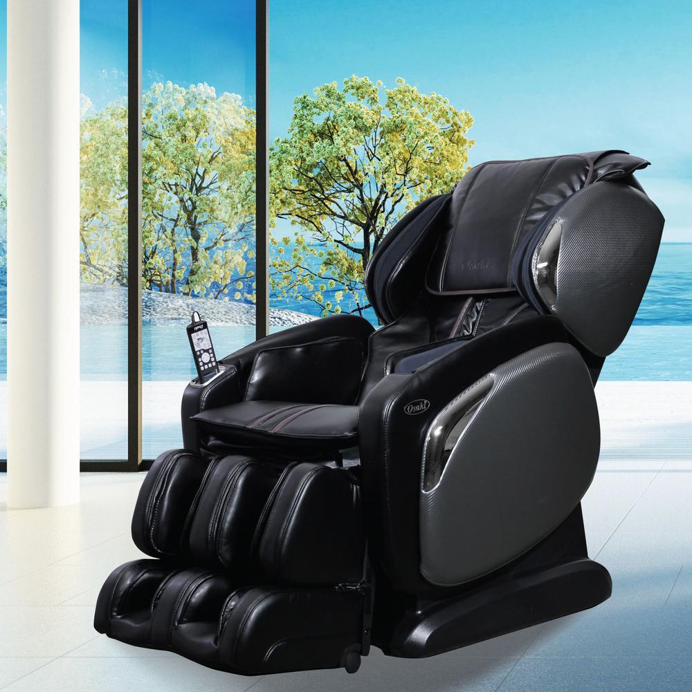 Osaki Black Faux Leather Reclining Massage Chair