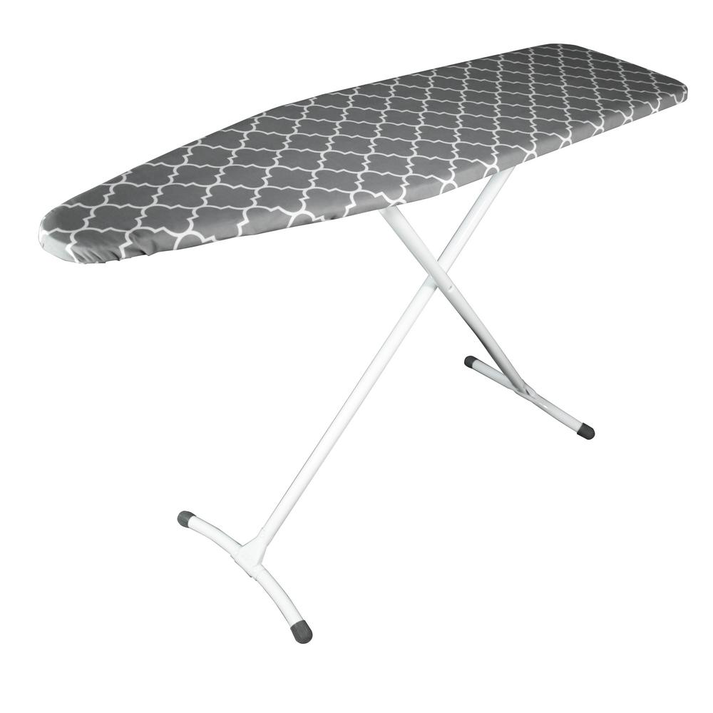 Homz Contour Curved Foot Ironing Board In Gray 4830801