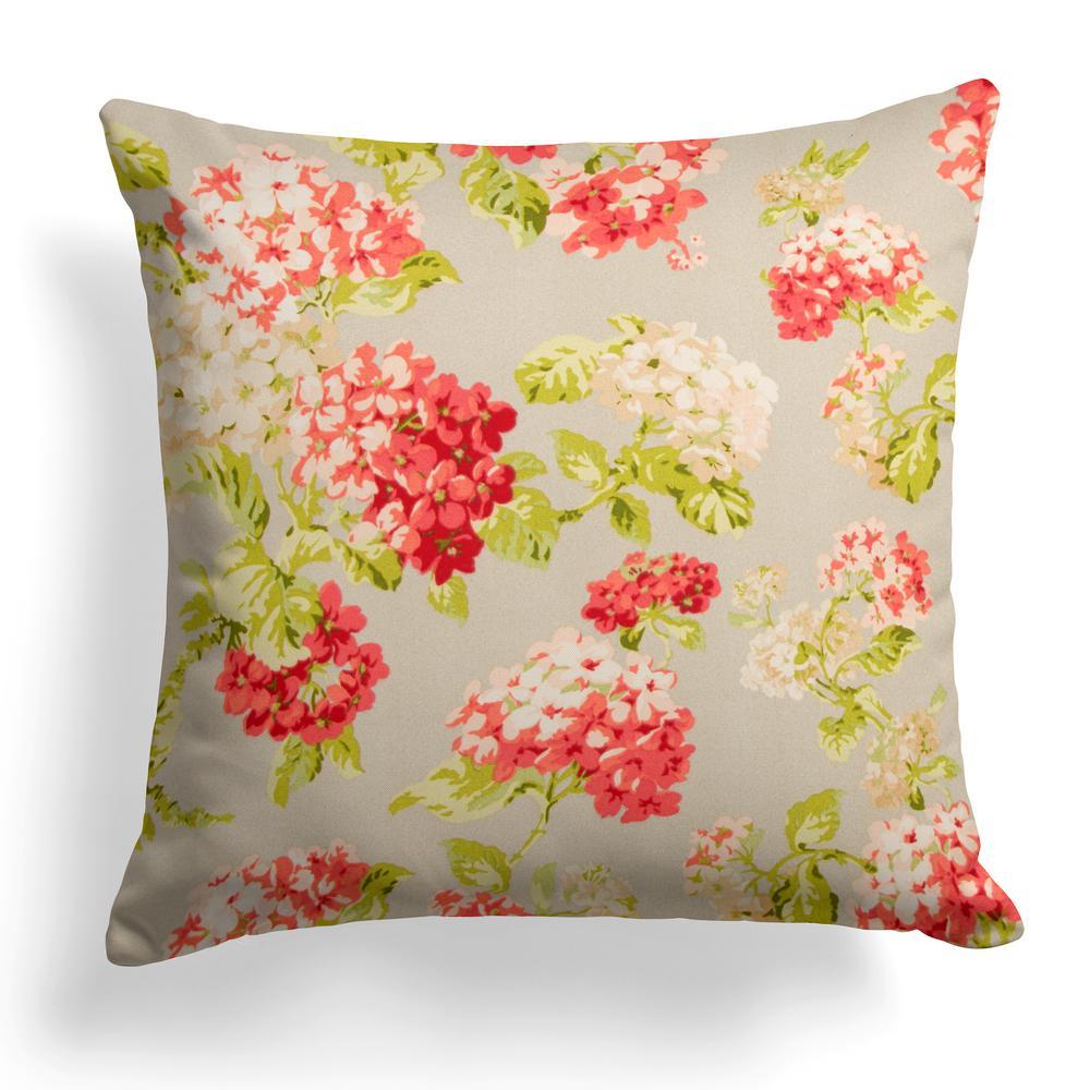 Summer Garden Square Outdoor Throw Pillow