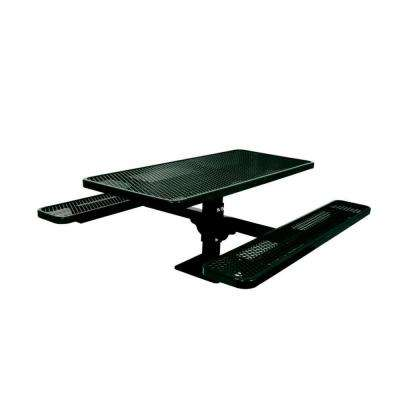 6 ft. Diamond Black Commercial Park Surface Mount Rectangular Table
