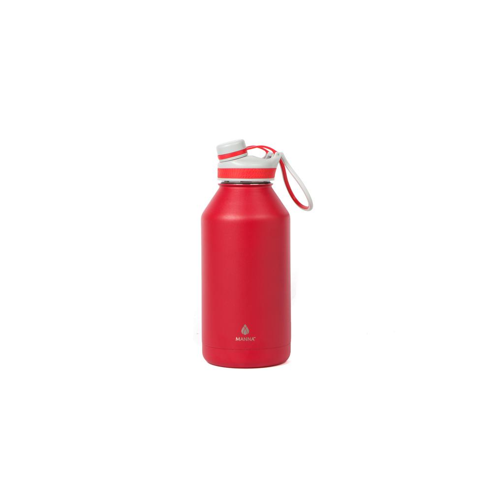 Manna Ranger Pro 64 Oz Red Double Wall Vacuum Stainless Steel Bottle Hd18615 The Home Depot