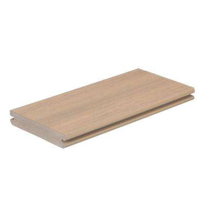AZEK Vintage 1 in. x 5.5 in. x 1 ft. Weathered Teak PVC Deck Board Sample