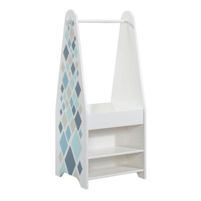 Pinwheel Soft White Open Armoire