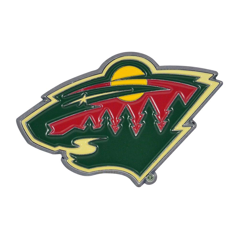 3 in. x 3.2 in. NHL Minnesota Wild Color Emblem