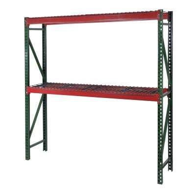 72 in. W X 72 in. Hx 36 in. D Steel Bulk Rack Shelving Unit with Wire Mesh Decking