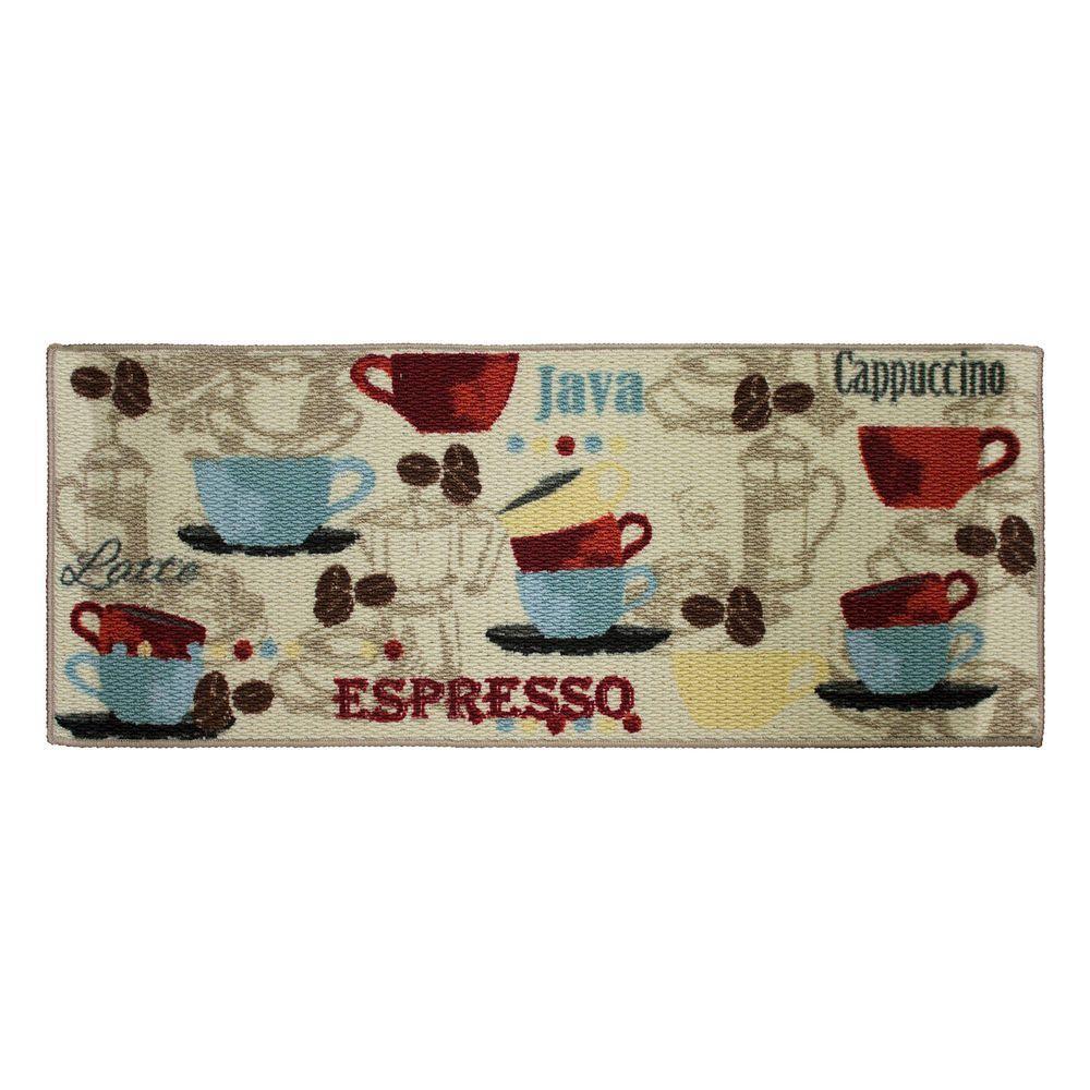 Coffee 20 in. x 48 in. Textured Accent Kitchen Runner