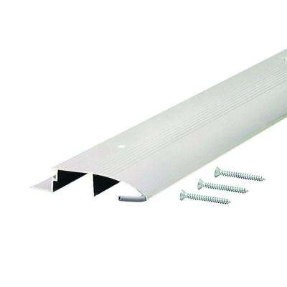 Low 3-1/2 in. x 74 in. Aluminum Bumper Threshold
