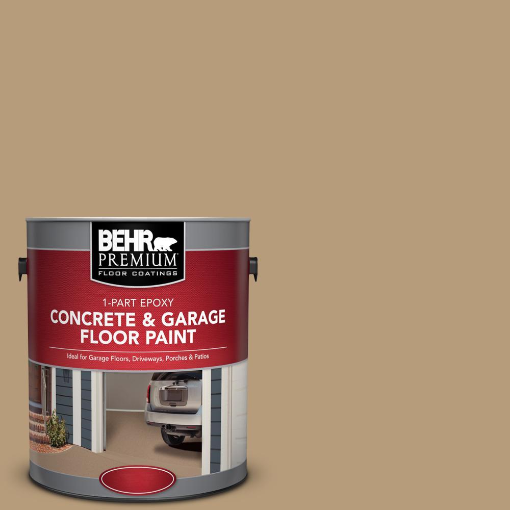 1 gal. #PFC-28 Desert Sandstone 1-Part Epoxy Satin Interior/Exterior Concrete and Garage Floor Paint