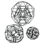 Metal Orb Set Of 3-black in Black Metal 11in L x 11in W x 11in H