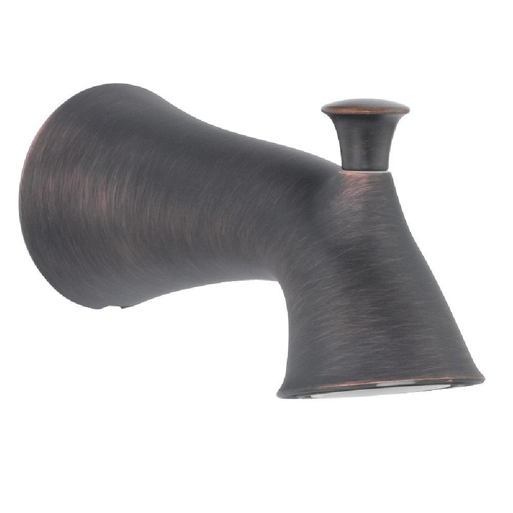 Lahara 6-3/4 in. Non-Metallic Pull-Up Diverter Tub Spout in Venetian Bronze