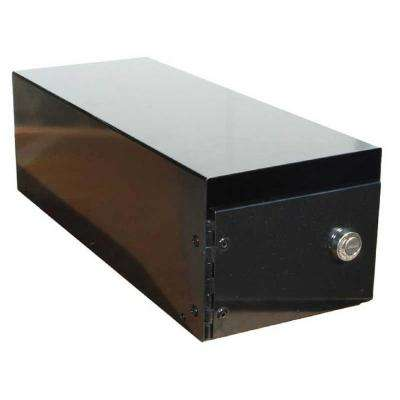 Lewiston Black Post Mount Locking Mailbox Insert