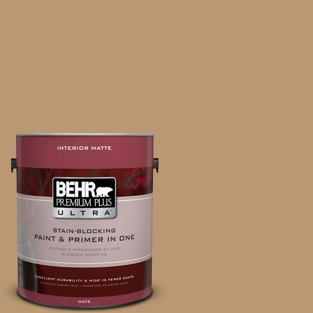 1 gal. #ECC-24-1 Amber Leaf Flat/Matte Interior Paint
