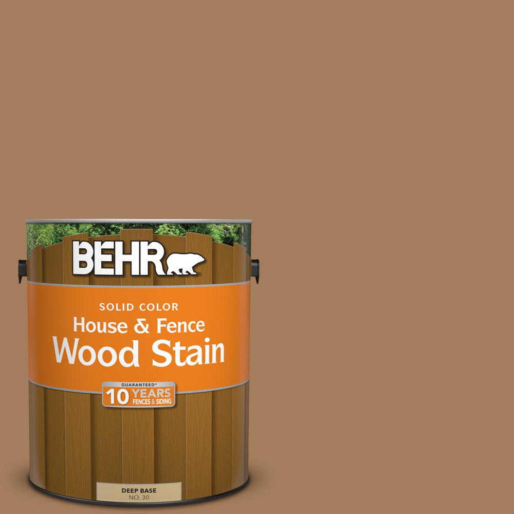 1 gal. #SC-158 Golden Beige Solid Color House and Fence Wood